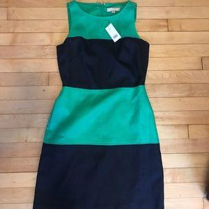 NWT Banana Republic blue/green large striped dress